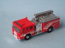MATCHBOX Pierce DASH FIRE ENGINE Rescue 62 Rosso e Argento GIOCATTOLO MODELLO AUTOMOBILE IN BP