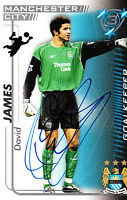 Manchester City FC David James Hand 05/06 Premiership Shoot Out Signed Card.