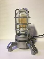 Steampunk Desk Lamp Industrial Vapor Proof Jar With Edison Style Filament Lamp