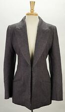 GIVENCHY Purple Herringbone Wool Tweed Jacket L FR 40 US 6 8 Made in France
