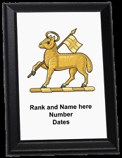 Personalised Wall Plaque - The Queen's Royal Regiment (West Surrey)