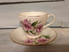 Duchess English Bone China Cup And Saucer in 'Wood Anemone' pattern