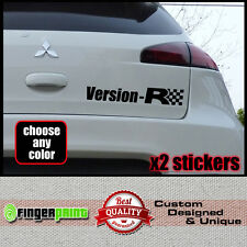 VERSION R sticker decal vinyl mitsubishi colt ralliart rear czt 1.5 turbo japan