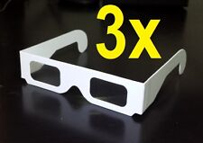 3 PACK - PAPER DIFFRACTION GLASSES FIREWORKS STEREOSONIC ABOVE BEYOND DEFQON