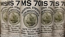 FIVE MS70 Coin Cleaner Brightener for Gold Silver Copper Nickel 5 BOTTLES