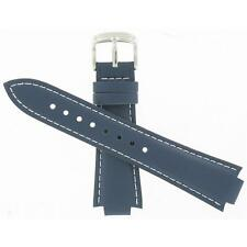 Casio 13mm Navy Blue Leather w/ White Stitching Men's Watch Band 10151855