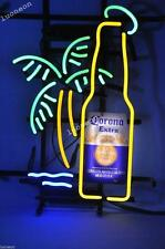 Rare New EXTRA BEER BOTTLE PALM TREE Real Beer Bar Pub Neon Light Sign FAST SHIP