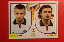 PANINI KOREA JAPAN 2002 # 528 ROSSIJA WITH BLACK BACK MINT!!!