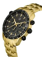 ori Mercedes Benz Chronograph Herren Uhr Armbanduhr Motorsport gold Swiss made®