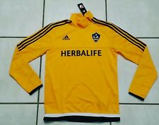 NWT ADIDAS  L.A. Galaxy  MLS Long Sleeve Pre-Game Training Jersey Men's Small