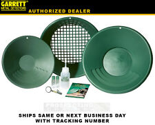 GARRETT GOLD PANNING PAN KIT 1651300 classifier snuffer bottle vial + more