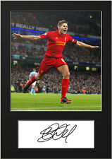 STEVEN GERRARD #4 Signed Photo Print A5 Mounted Photo Print - FREE DELIVERY