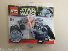 VERY RARE lego star wars CHROME DARTH VADER minifigure polybag NEW SEALED promo
