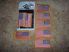 8 US Flags Shoulder Patch Military Flag Army Marine Navy Air Force Patch US Flag