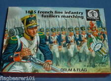 WATERLOO 1815 AP061 FRENCH LINE INFANTRY FUSILIERS MARCHING. 1/72 SCALE. 24 FIGS