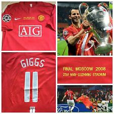 RARE GIGGS MANCHESTER UNITED SHIRT JERSEY FINAL CHAMPIONS LEAGUE RONALDO Rooney