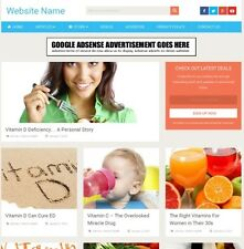 VITAMINS SHOP - Online Business Website For Sale - Mobile Friendly Responsive