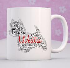 PERSONALISED 10oz WESTIE MUG BESPOKE GIFT UNIQUE PERSONAL BIRTHDAY AFFIX