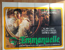 UK Quads Poster- Sylvia Kristel as EMMANUELLE Original UK Cinema Poster