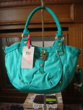 NWT~ GEORGE GINA & LUCY ~FRESH & FROH GREEN NYLON CANVAS SATCHEL SHOULDER STRAP