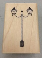 A MUSE Artstamps Amuse Rubber Stamps French Lampost Lamp Post