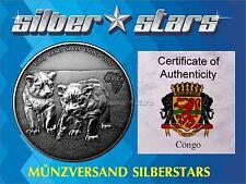 1 Unze Silber Antique Finish 2013 Kongo / Congo 1000 Francs Baby Lions / Löwen