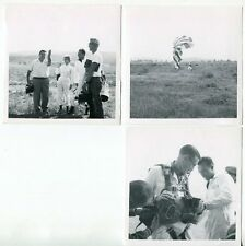 1950s SKY DIVING - Original Photos # 17 - 3 Small Photos