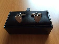Sterling silver cufflinks with cubic zirconia – Brand new in box – RRP$175