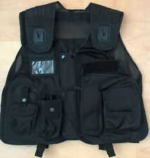 Black Tactical Vest Security, Police, Enforcement, CCTV, Dog Handler Tac Vest