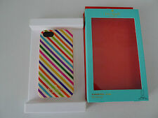 KATE SPADE Multi Diagonal STRIPE HARDSHELL IPHONE CASE 5 Cover New York SOLD OUT