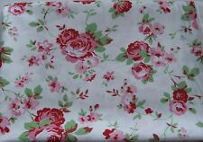 CATH KIDSTON IKEA ROSALI WHITE SHABBY CHIC FLORAL FABRIC 100% COTTON Price/Metre