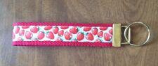 Strawberry Strawberries wristlet  key fob holder key Chain