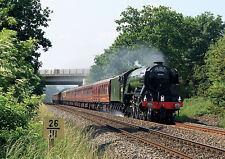 """Tren de vapor de tarjetas en Blanco jubilación Motor """"Flying Scotsman"""" libre poste de 1st"""