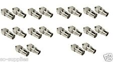 10 FEMALE 10 MALE TV AERIAL COAXIAL CONNECTORS PLUGS SOCKETS COAX HOME OFFICE