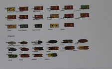 15mm 17th-18th Century Seven Years War `SYW' Laser printed French Cavalry Flags