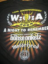 Ultrarar niños Wacken camisa 2004 talla 128 Böhse Onkelz Motörhead Oi punk