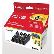 Canon CLI-226 4 Pack B/C/Y/M Ink Set MG5220 GENUINE!