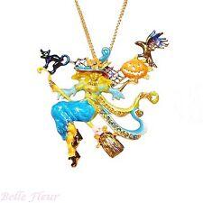 Kirks Folly Enya Divine Diva Witch Halloween Pin Pendant with Chain Necklace