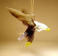 "Blown Glass ""Murano"" Art animal Figurine Bird Hanging EAGLE Ornament"