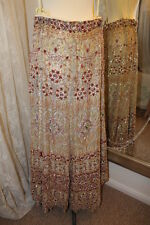 1970s Indian Asian Jewelled long skirt - Ditsy Vintage 14 bollywood goddess