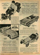 1965 ADVERT Toy Battery Operated Toy Go Cart Hot Rod Stutz Bearcat Pedal Car