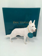 Dog Studies by Leonardo White Alsatian German Shepherd Figurine Ornament