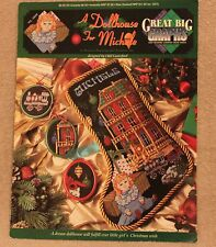 A DOLLHOUSE FOR MICHELE Stocking cross stitch leaflet Great Big Graphs Christmas