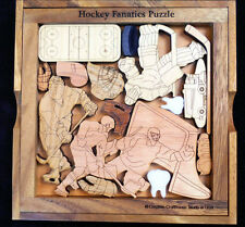 Ice Hockey Fanatics Puzzle – artistic & challenging brain teaser made USA