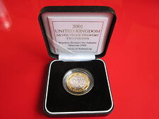 2001 Silver Proof Piedfort Marconi £2 Pound Coin Boxed and COA