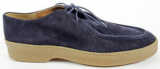 Dries Van Noten Men's Navy Blue Suede Lace Up Loafers Shoes EU 44 US 11 $655