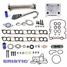 Ford 6.0L Diesel Turbo EGR Delete Kit Engine Oil Cooler & Cooler Kit w/ Gaskets