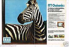 Publicité Advertising 1974 (2 pages) Télévision téléviseur ITT Océanic