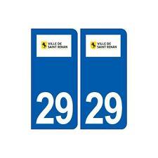29 Saint Renan logo autocollant plaque stickers ville arrondis