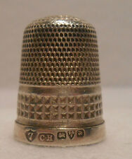 Antique~British~Sterling Silver Thimble by Charles Horner for Chester 1912